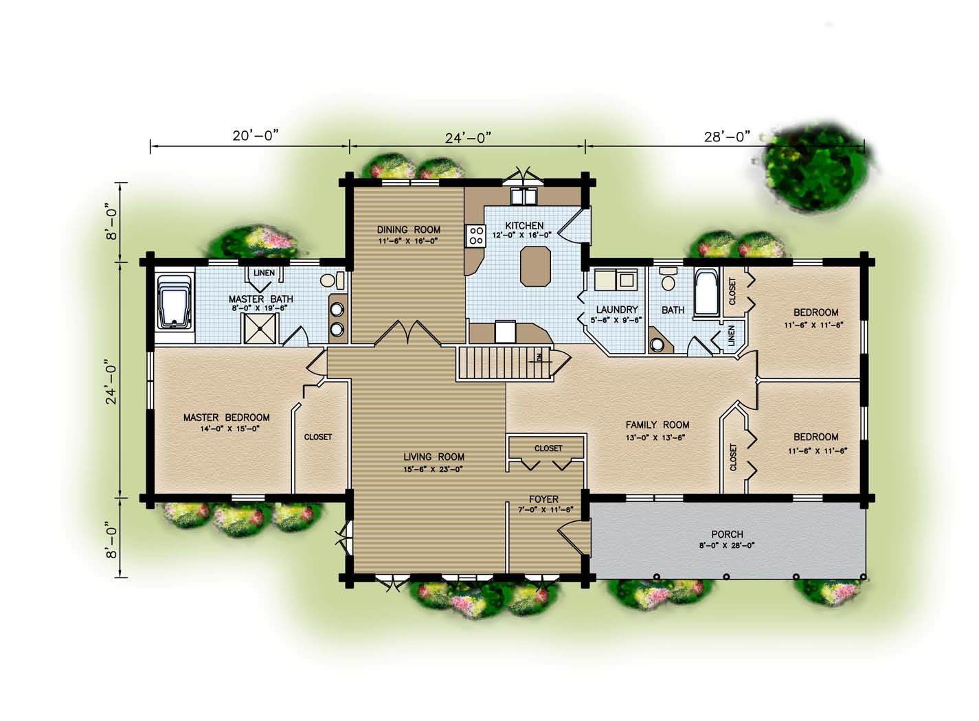 Custom design and floor plans Home site plan